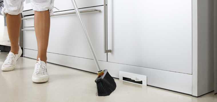 Homecare Systems- kickboard vacuum inlet